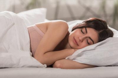 woman sleeping soundly